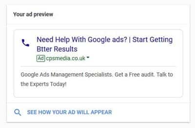 call extension adwords express