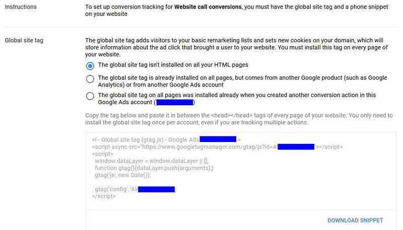 How to add Google Call Tracking To WordPress - CPS Media LTD