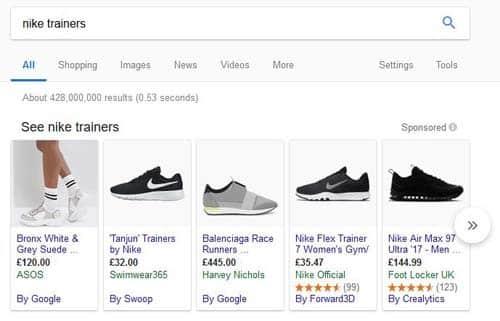 where do google ads appear in shooping