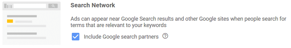 turn off google ads search partners