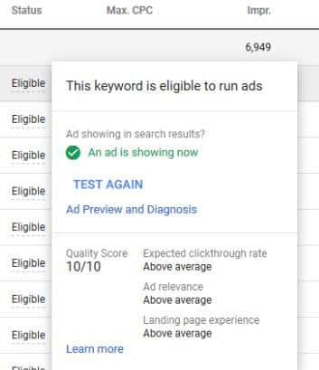 how to improve google ads quality score